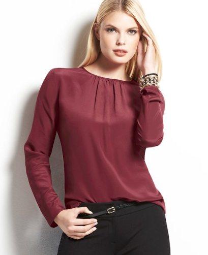 ann-taylor-shirred-silk-blouse