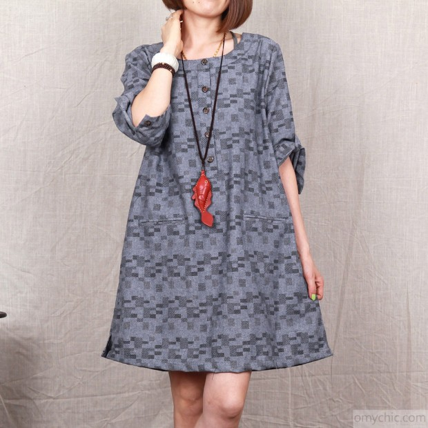 Dark_grey_floral_cotton_dress_2015_plus_size_cotton_summer_dress1