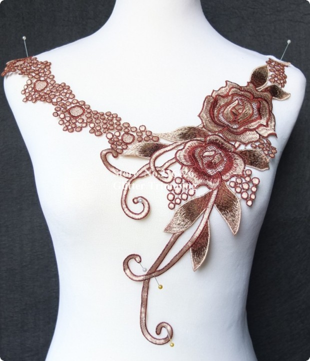 Free-Shipping-1pc-x-Multi-Colored-Polyester-Flower-Venise-Lace-Trimmings-Sewing-DIY-Craft-Neckline-Collar