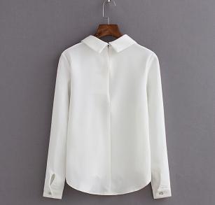 New-Autumn-Women-Cute-Three-Cats-Print-Long-Sleeve-Chiffon-Blouse-Shirts-Casual-Chiffon-White-Tops
